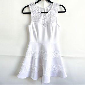 Three Pink Hearts Trixxi White Lace Dress
